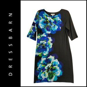 Dressbarn Womens Short Sleeve Floral Dress Size 8